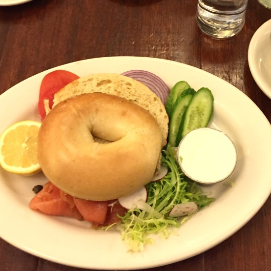 Build your our bagel and lox